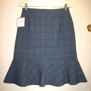 Plaid Flared Bottom Summer Fun Skirt